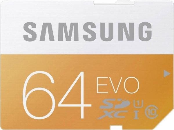 [Mediamarkt Tiefpreisspätschicht /Und EbayShop] Samsung SDXC EVO 64GB Class 10 UHS-I (MB-SP64D/EU) für 15,99€Versandkostenfrei..