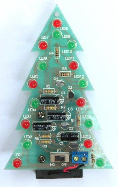 DIY LED Weihnachtsbaum zum löten  für 3,93€ von Banggood