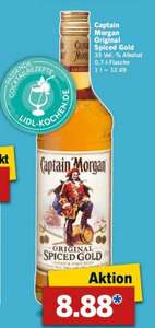 Lidl ab 09.11.: Captain Morgan (0,7L) für 8,88 Euro