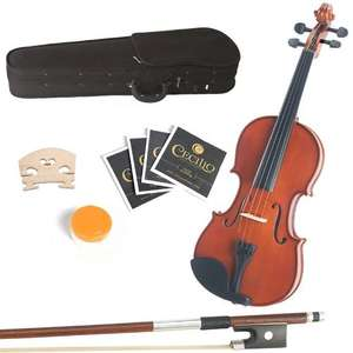 [Amazon.de-Prime] Mendini MA250 Viola mit Koffer/Kolofonium/Bogen/Saiten 30,4 cm (12 Zoll)