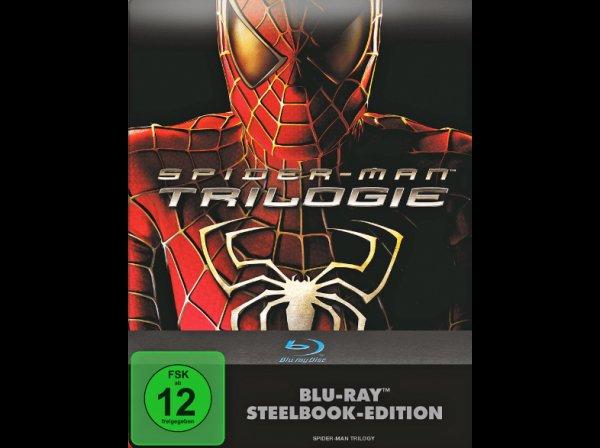 [Saturn] Spiderman-Trilogie (Steelbook, 3 Blurays) für 9,99€ versandkostenfrei