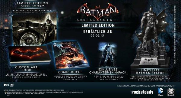 Batman: Arkham Knight (Limited Edition) PC ab 64,99 € - Xbox One ab 69,99 € @ Saturn.de