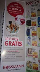 (lokal) 10 Fotos gratis am 09.11.2015 bei Rossmann in 90542 Eckental
