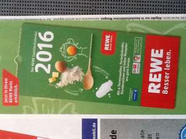 REWE Familienkalender 2016 (inkl. PaybackCoupons)
