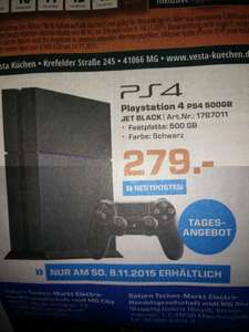 [Lokal MG] PlayStation 4 Jet Black 500GB für 279€