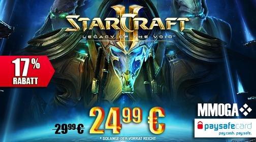Starcraft 2 Legacy of the Void für 24,99€ statt 39,99€ mit PaysafeCard