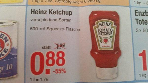 [V-Markt Ulm] Heinz Ketchup 500 ml Squeeze Flasche für 0,88€