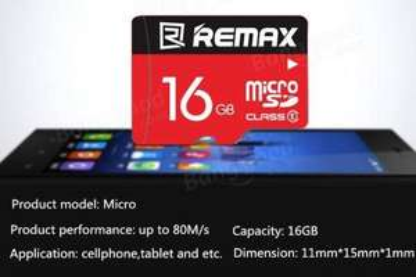 16GB Class10 Remax microSD mit 80MB/s Lesen für 4,78€ (CN)