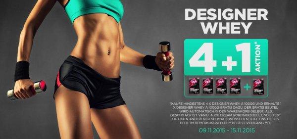 Kauf 4x ESN Designer Whey (1kg) + bekomme 1x Beutel gratis!