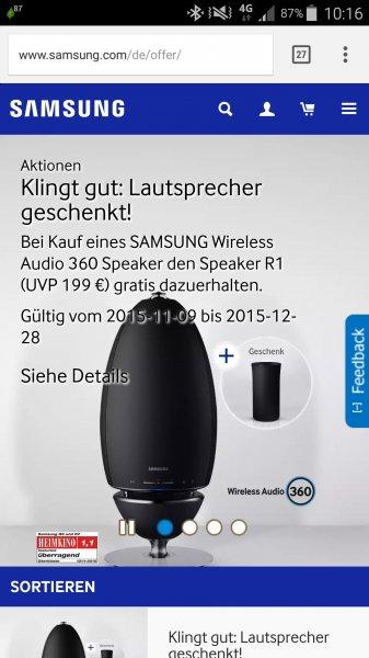 Samsung Multiroom Lautsprecher Cashback-Aktion