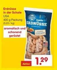 Netto ohne Hund / Aktionsangebot: Erdnüsse in der Schale, 400 g, für 1,29€, vom 9.11. - 14. 11.