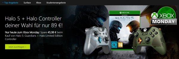Halo 5 + Halo Controller deiner Wahl für nur 89 €