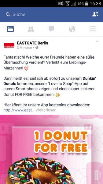 Dunkin Donut Eastgate Berlin Marzahn - Gratis Donut nach Wahl
