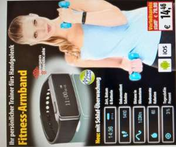 Fitness Armband Newgen Medicals FBT-40 bei Pearl