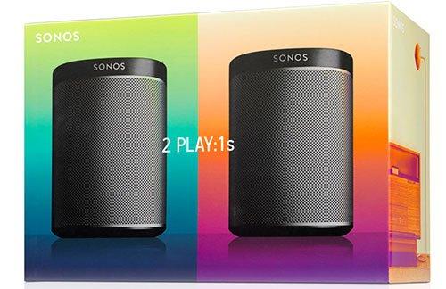 [Amazon.es] Sonos Play 1- Duo Pack - Schwarz / Black