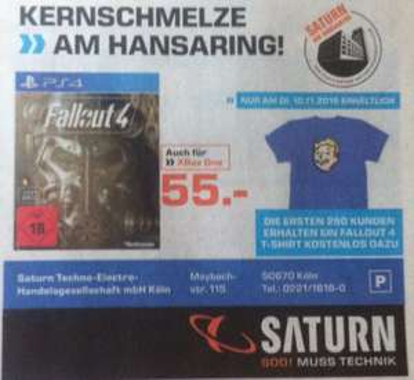 [lokal Köln]Fallout 4 + T-Shirt