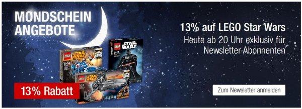 13% auf Lego Star Wars - ab 20h aber nur für Newsletter Abonnenten