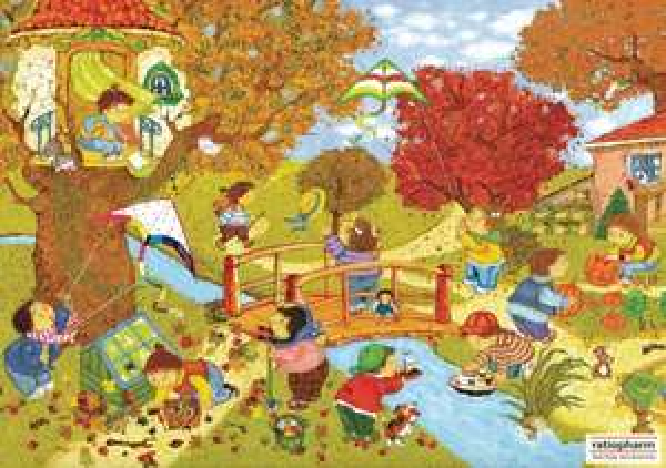 Wimmelposter - Garten im Herbst gratis