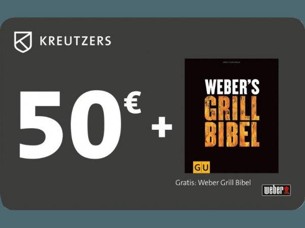 *Saturn* KREUTZERS 50€ Fleisch- und Genussgutschein inkl. Weber´s Grill Bibel, Weber´s Grill Bibel