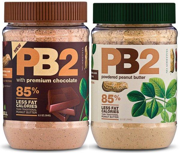 PB2 Erdnussbutter Pulver 2x 453,6g (Erdnuss & Erdnuss-Schoko) Versand durch Amazon VK-Frei für Prime Mitglieder