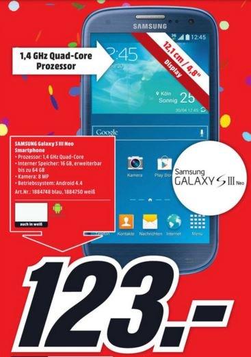 [LOKAL Lüneburg] Samsung Galaxy S3 Neo in weiß und blau (MM feiert 23 Jahre Lüneburg)