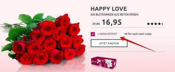 21 Naomi Red Rosen für 21,90€ @ Miflora