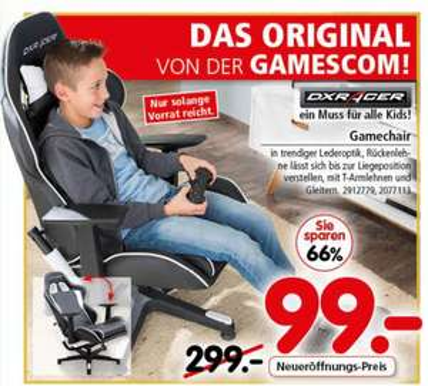 [SEGMÜLLER] DXRACER OH/FE08/NW Formula Gaming Chair für 99€ (Idealo: 263,74€)