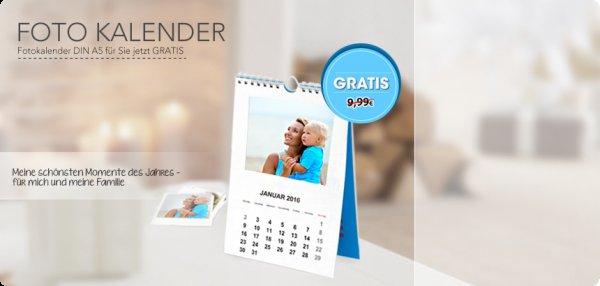 [myprinting.de] Fotokalender Klassik A5 für 0€ + 4,99€ Versand