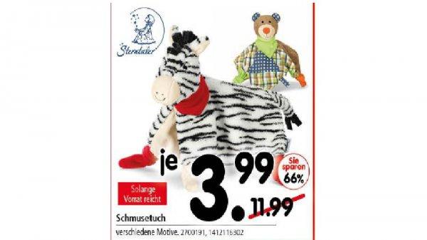 Sterntaler Schmusetuch Zebra Zimba uvm. für 3,99€ bei Segmüller Weiterstadt (lokal)