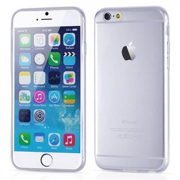 iPhone 6, Samsung Galaxy S6 Silikon Cover Hard Case Schutz Hülle Bumper Transparent 1€