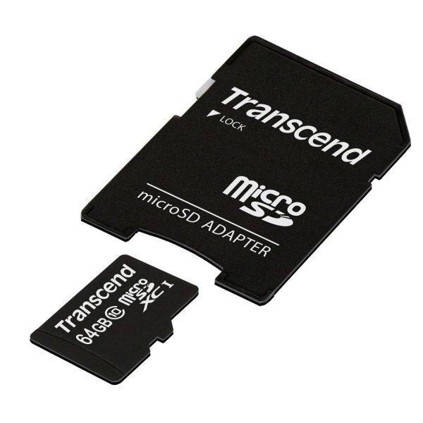 Transcend Mikro SD + Adapter 21,25€