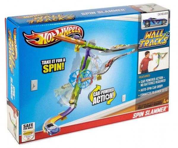 [JAWOLL] Hot Wheels Wall Tracks Spin Slammer Rennbahn inkl. 1 Auto (4+) für nur 12,99€