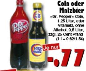 [JAWOLL] Dr. Pepper 1,25l // Vitamalz 0,5l für nur 0,77€