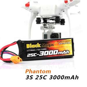 [Aliexpress] LiPo-Akku für  DJI PHANTOM CX-20 BlackMagic 3000mAh 3S 25C