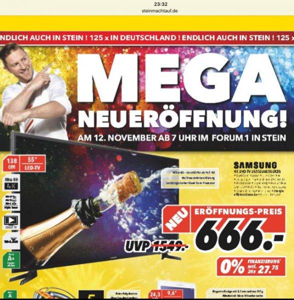 [lokal - MediMax Nürnberg/Stein] Samsung 4K UHD TV UE55JU6050 für 666,- €
