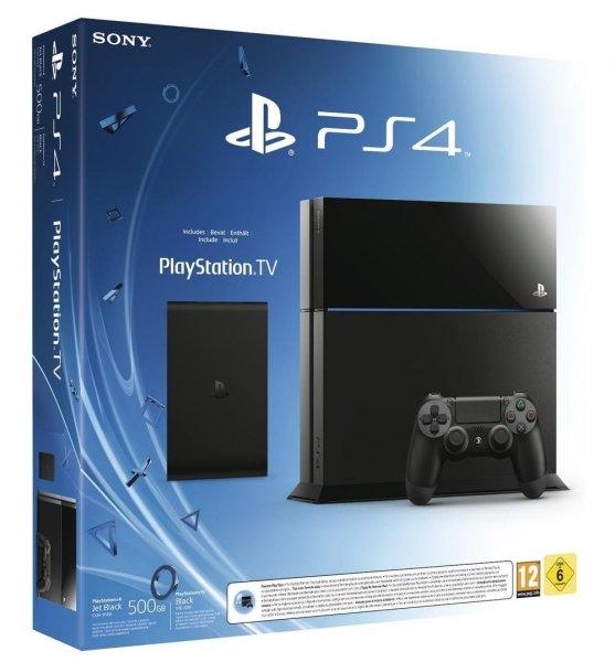 [Update: jetzt 349,90 €][Amazon.fr]PlayStation 4 + PlayStation TV + 3 Spiele (Voucher) für 311,61 €
