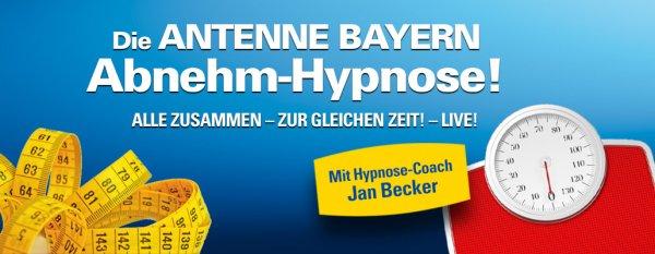 [AntenneBayern] Abnehm-Hypnose heute 17.00 - 18.00 live im Radio