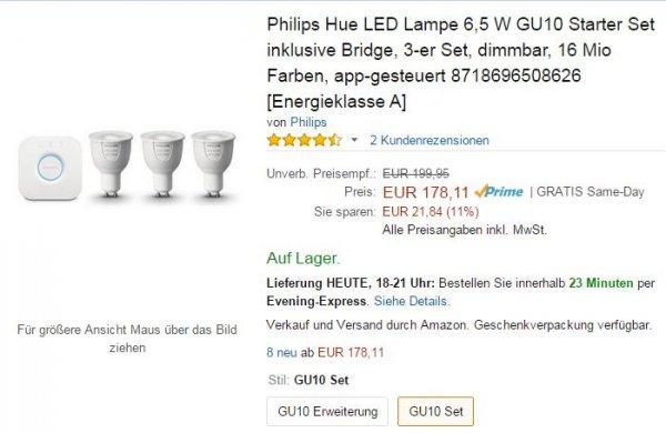 Philips Hue GU10 Starterset