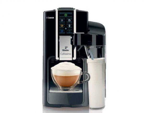 [BVW] Tchibo Cafissimo Latte Nero, Kaffeepadmaschine, Reinigungstaste, 1 Liter Wassertank, Schwarz