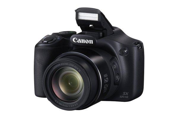 Canon SX520 HS PowerShot Digitalkamera (16 Megapixel, 3,0 Zoll LCD-Display, CMOS, 42-fach opt. Zoom) schwarz für 142,34 € @Amazon.it