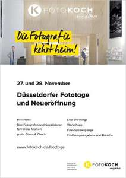 Düsseldorfer Fototage und Neueröffnung 27. und 28. November CLEAN und CHECK