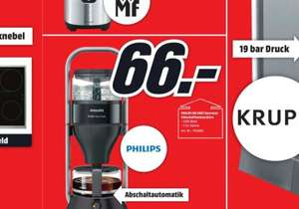[Lokal Media Markt Lüneburg] Philips HD5407 Kaffeemaschine