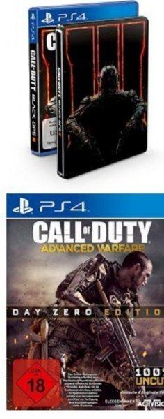 [Amazon.de][PS4]Call of Duty: Black Ops III - Standard inkl. Steelbook  + Call of Duty: Advanced Warfare - Day Zero Edition