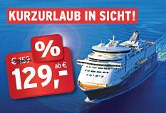 Minikreuzfahrt  nach Oslo inkl. HP und Spa für 129€ p.P.