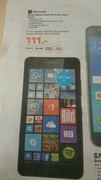 [lokal Frankfurt] MICROSOFT Lumia 640 DS, 8 GB, 5 Zoll, DualSim (schwarz, weiss, orange, blau)