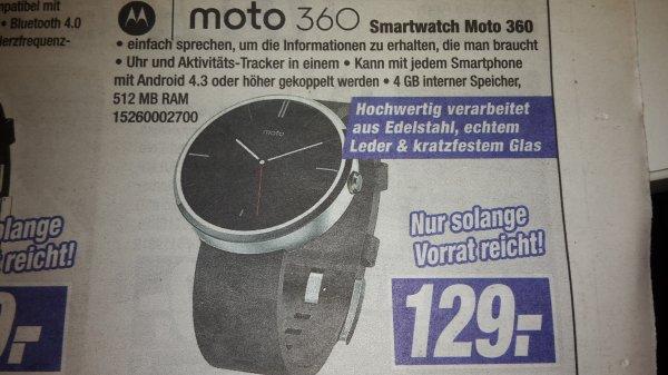 (Lokal) Smartwatch Moto 360 mit Lederarmband für 129 Euro bei Expert Klein