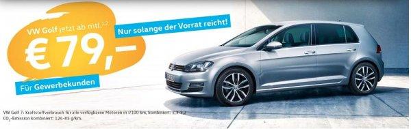 Geschäftskunden Leasing-Angebot VW Golf Trendline