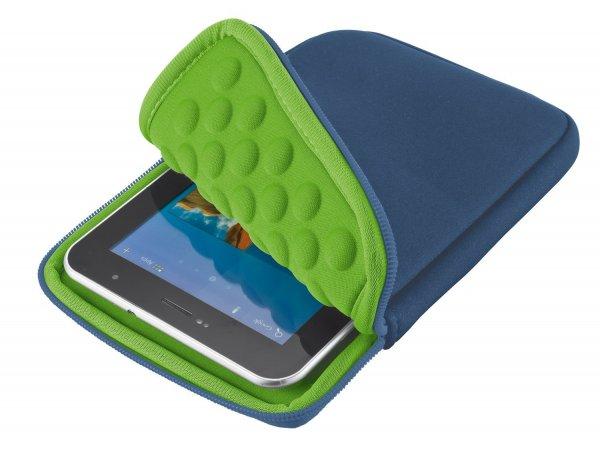 Amazon.de (Prime): Trust Anti-Shock Bubble Sleeve für Tablets (7-8 Zoll) in blau