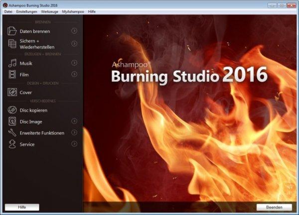 Ashampoo Burning Studio 2016 – Kostenlose Vollversion @ computerbild.de