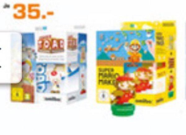 Mario Maker inkl. Amiibo / Captain Toads Treasure Tracker inkl. Amiibo (Lokal Saturn Weimar)